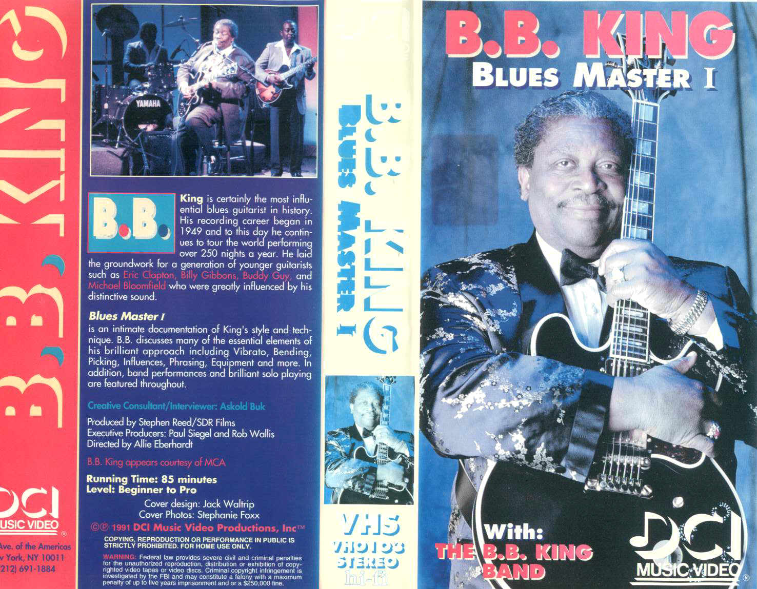 BB King - Blues Master 1 / videocassetta VHS