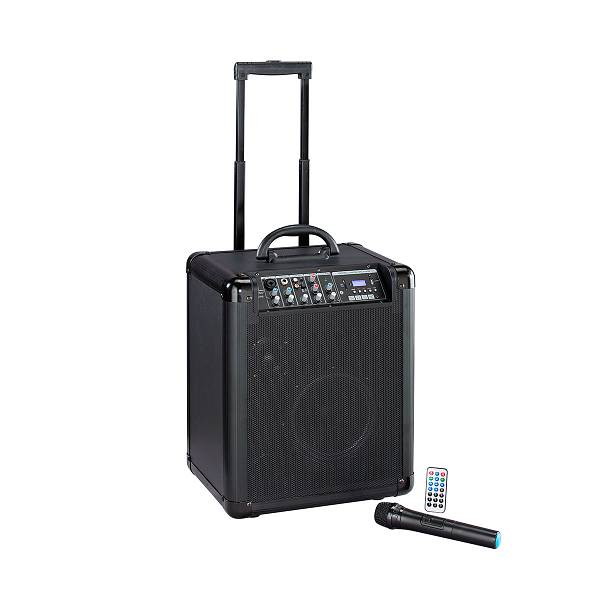 Sistema trolley a batteria, radiomicrofono, bluetooth, MP3 e DSP