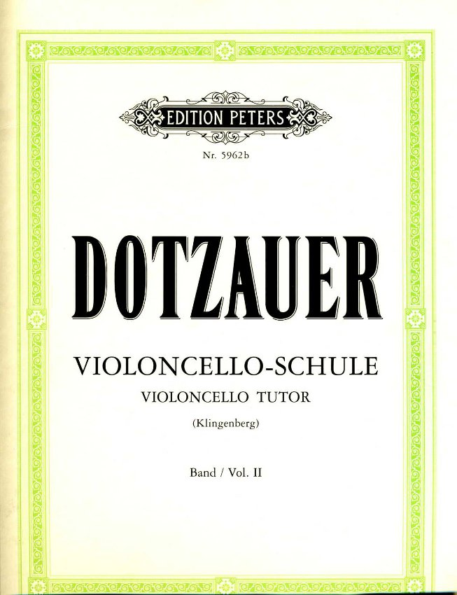 DOTZAUER - Metodo per violoncello 2 (Peters Edition)