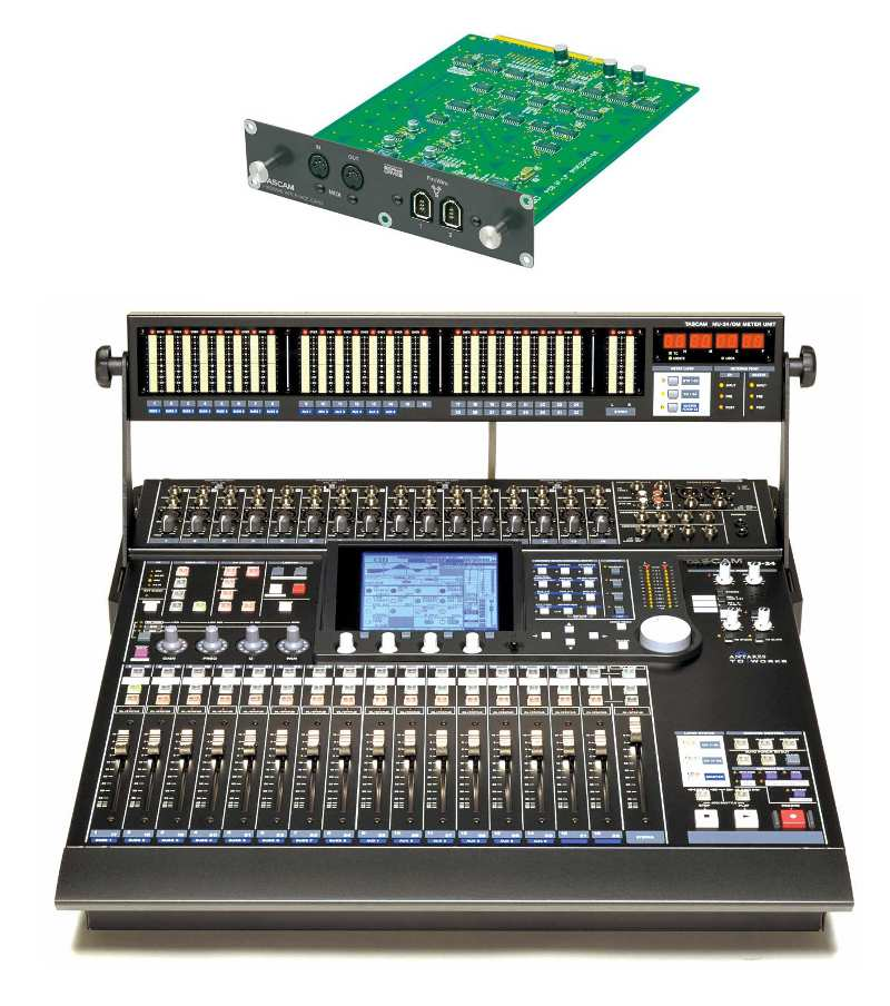 Tascam DM-24+Meter Bridge+interfaccia FireWire+Case - USATO