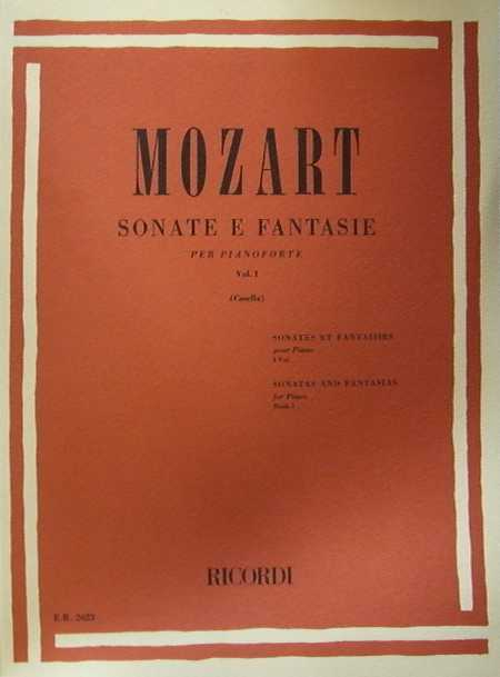 MOZART- Sonate e Fantasie per pianoforte volume I