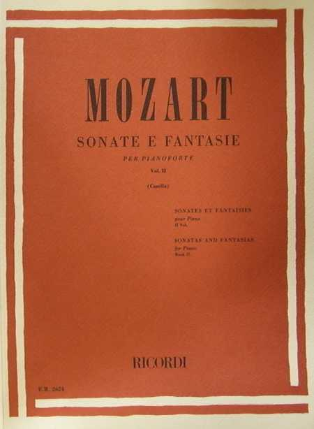 MOZART- Sonate e Fantasie per pianoforte volume II