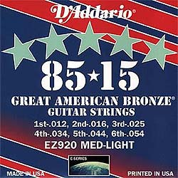Daddario EZ920 corde per acustica Medium Light 012-054