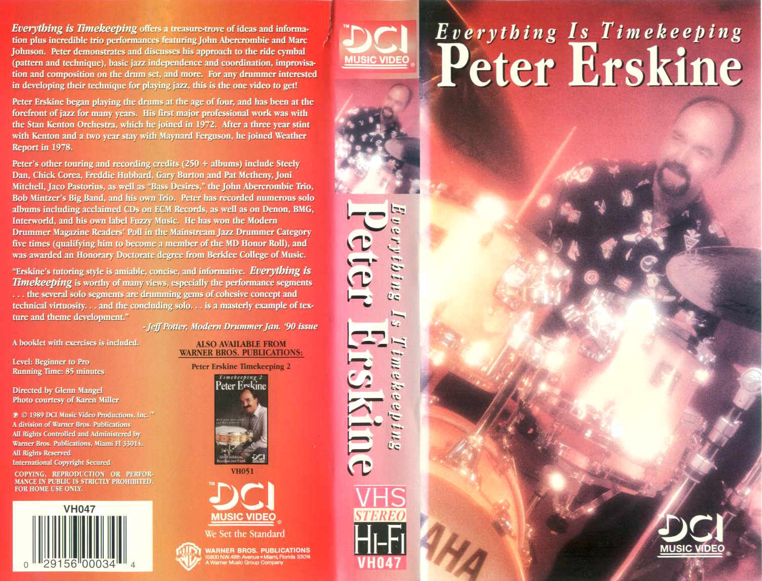 P. Erskine - Everything Is Timekeeping / videocassetta VHS