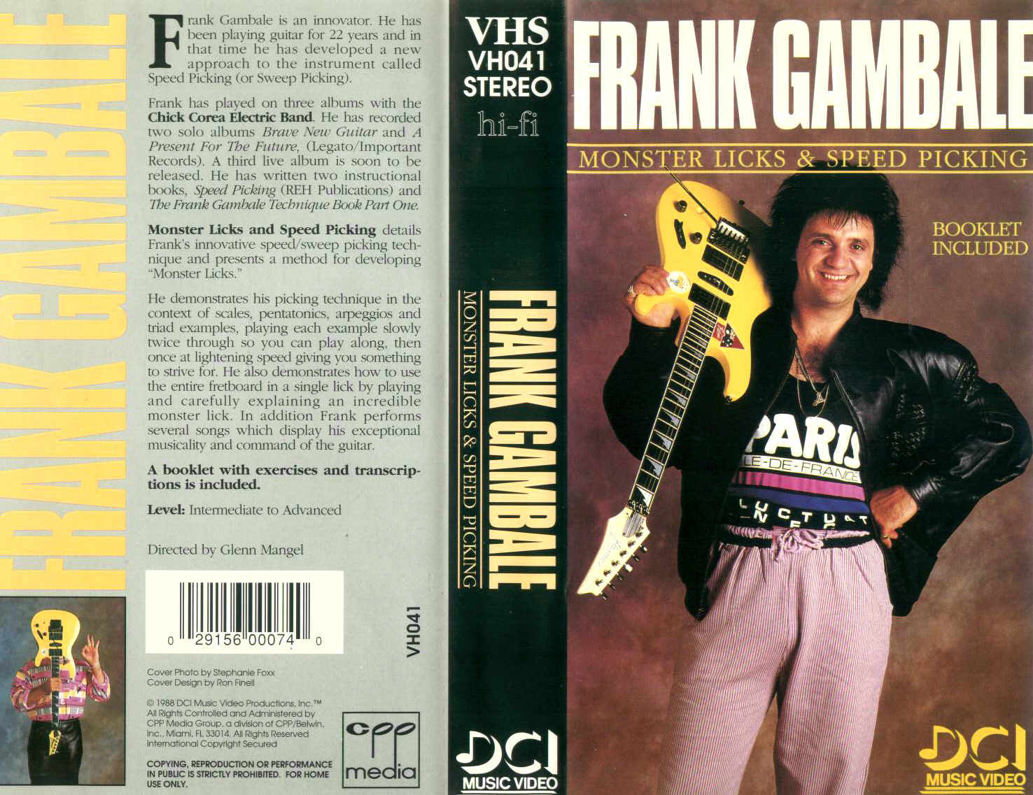 F. Gambale - Monster Licks / videocassetta VHS