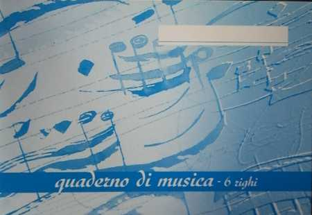 Quadernetto di musica 6 righi