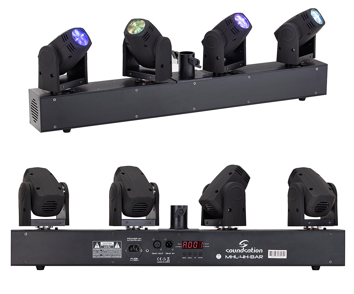 Soundsation MHL-4H-BAR Barra con 4 teste mobili beam a led
