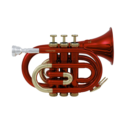Roy Benson PT-101R - Tromba pocket in Sib color rosso