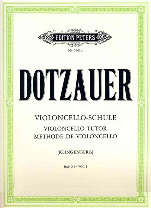 DOTZAUER - Metodo per violoncello 1 (Peters Edition)