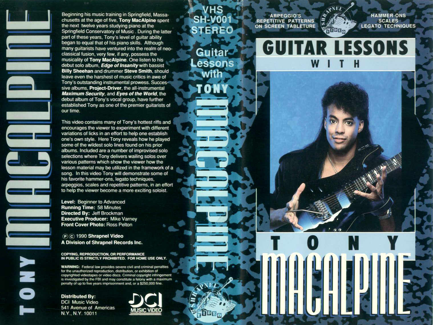 Guitar Lesson with Tony Macalpine / videocassetta VHS