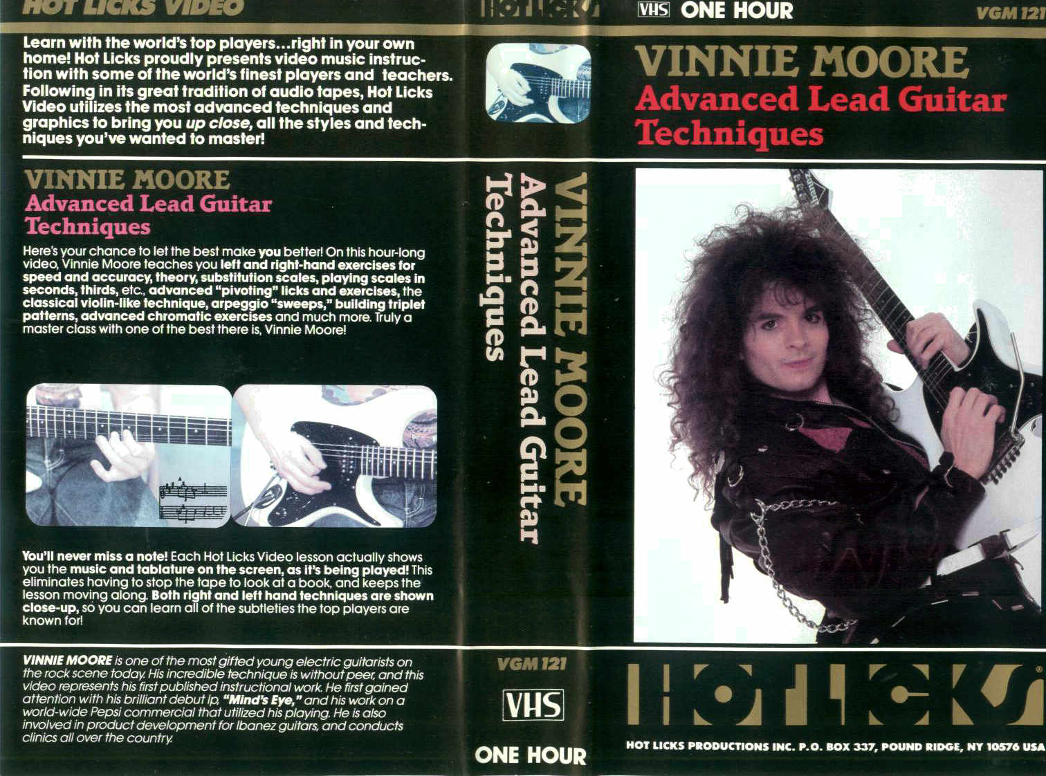 V. Moore - Advanced Lead Guitar Techniques / videocassetta VHS