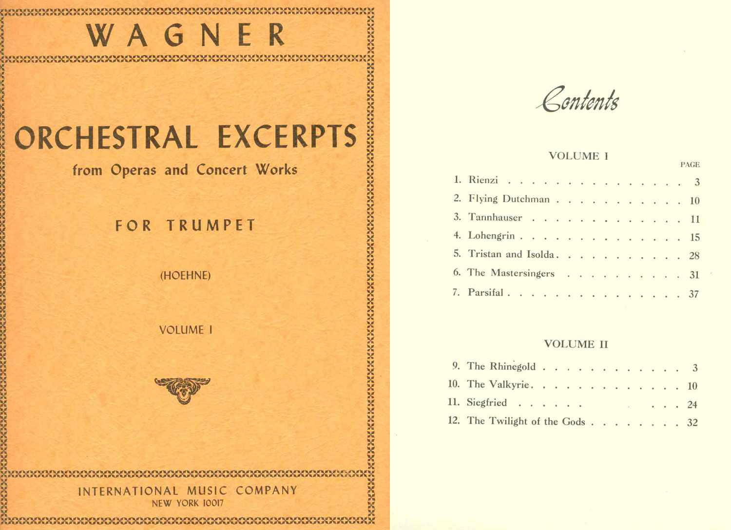 Wagner - Orchestral Excerpts For Trumpet Volume 1