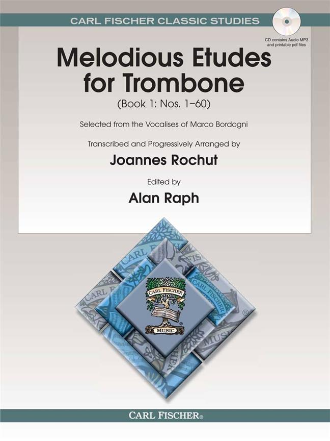 BORDOGNI - Melodious Etudes for Trombone (Book 1: nr. 1-60)