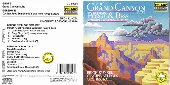 GROFE' Grand Canyon Suite - GERSHWIN Porgy & Bess Symphonic