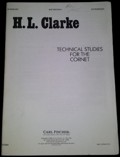 CLARKE Technical Studies for Cornet USATO!!