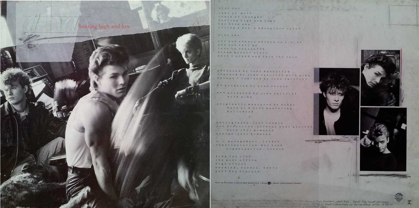 A-HA - Hunting Hight And Low (LP/Vinile 33 giri) USATO BUONO
