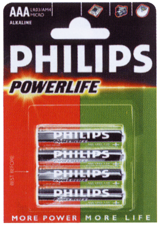 Philips Power Alkaline Battery 1,5V AAA Alkaline