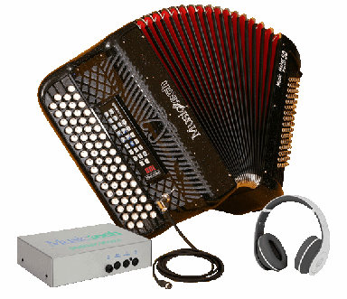 Musictech Fisarmonica a Bottoni Music Maker Digital 50 Francese