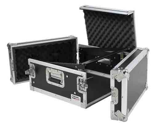 Proel SA04BLKM Flight Case 4U+Mixer