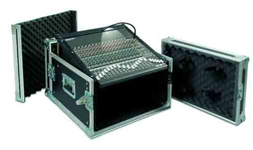 Proel SA06BLKM Flight Case 6U+Mixer