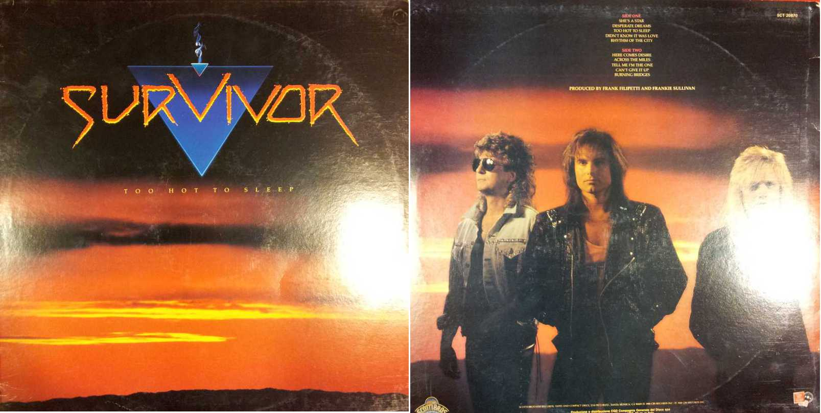SURVIVOR - Too Hot To Sleep (LP/Vinile 33 giri) USATO BUONO